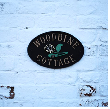 Woodbine Cottage's sign
