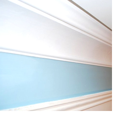 Painted coving close up