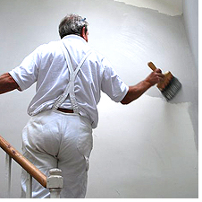Painting the interior walls at Boothby Manor
