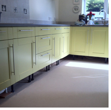 Picture of installed kitchen cupboards